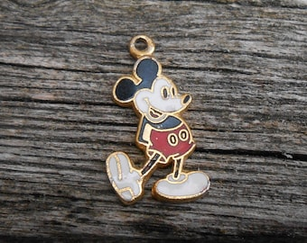 Vintage Mickey Mouse Pendant. Gift for Dad, Groom, Groomsmen, Wedding, Anniversary, Christmas, Birthday, Father's Day.