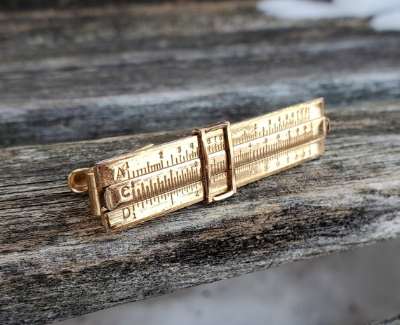 Dad Vintage Sterling Silver Slide Rule Tie Clip Gift For Groomsmen Christmas Father/'s Day. Wedding Birthday Anniversary Groom