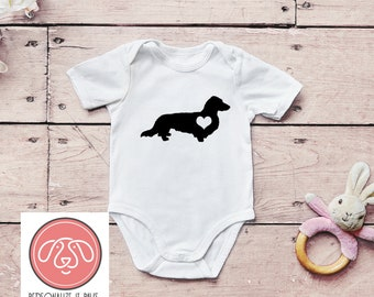 fa11be310 Long Haired Dachshund Onesie