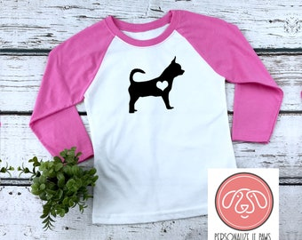 Kids Chihuahua Dog T-Shirt for Kids and Adults PreSchool, Youth, and Adult Sizes Available