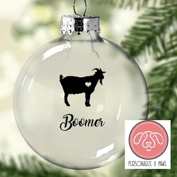 Goat Christmas Ornament.Billy Goat Christmas Ornament