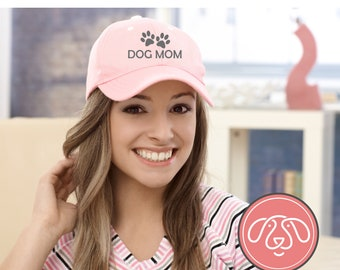 DOG MOM Embroidered HAT