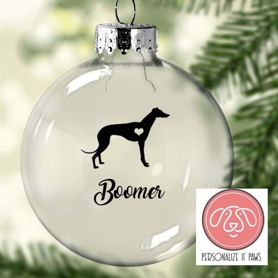 image 0 - Greyhound Christmas Ornament Etsy