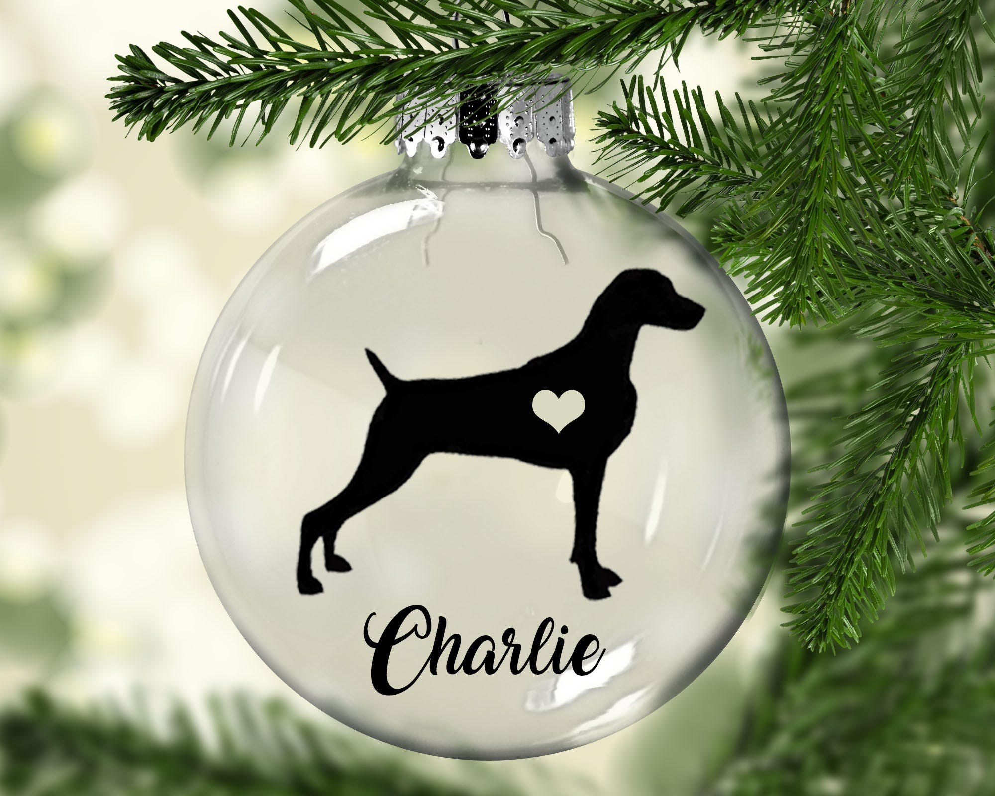 WEIMARANER Christmas Ornament | Etsy