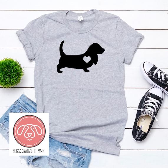 I Love Heart Basset Hounds T-Shirt