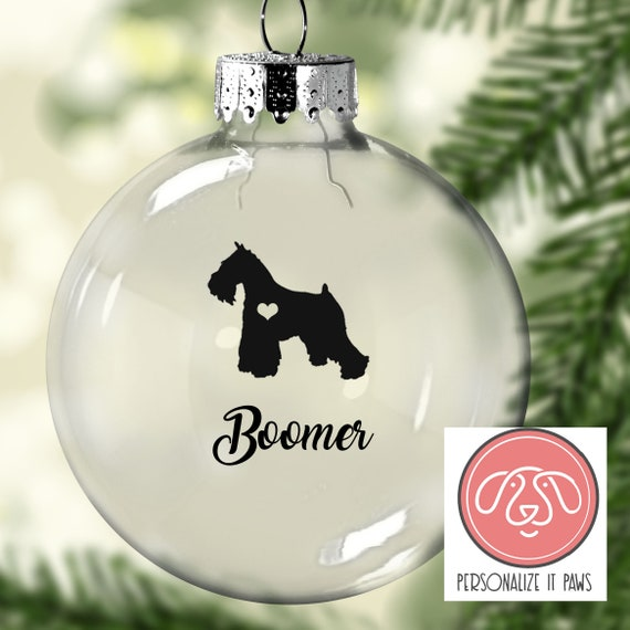Miniature Schnauzer Christmas Ornament - Miniature Schnauzer Christmas Ornament Etsy