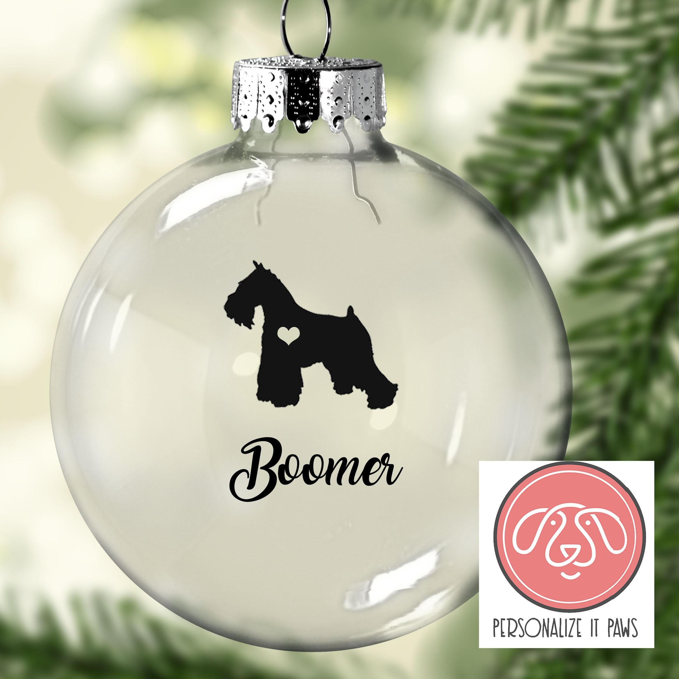 Miniature Schnauzer Christmas Ornament | Etsy