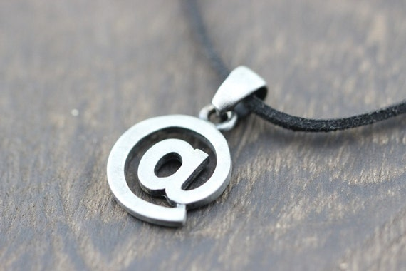Computer Symbols Necklace I Am At Friendship Jewelry Christmas Etsy