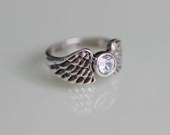 Golden Snitch Ring Angel Wing Ring Inspire Jewelry Christmas Gifts C283R-16_S