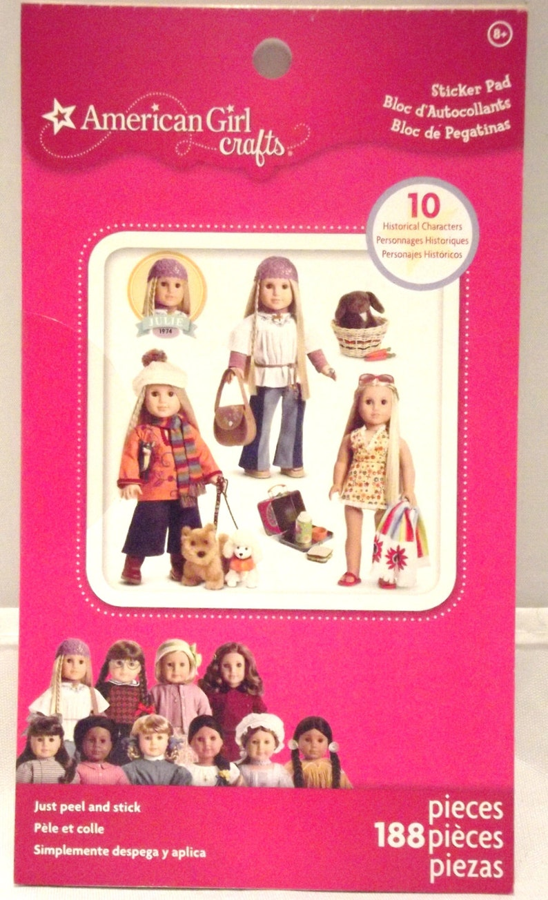 American Girl Crafts Sticker Pad 188 Pieces Etsy