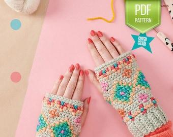CROCHET PATTERN - Hygge Embroidered Wristies - Winter wristwarmers - Embroidery - Folk - Hygge crochet