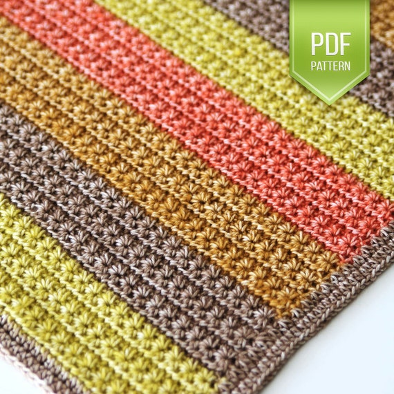 Pdf Crochet Pattern Star Stitch Crochet Newborn Baby Blanket Etsy