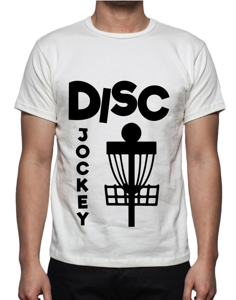 Disc Jockey Disc Golf T Shirt Design Svg Dxf Etsy