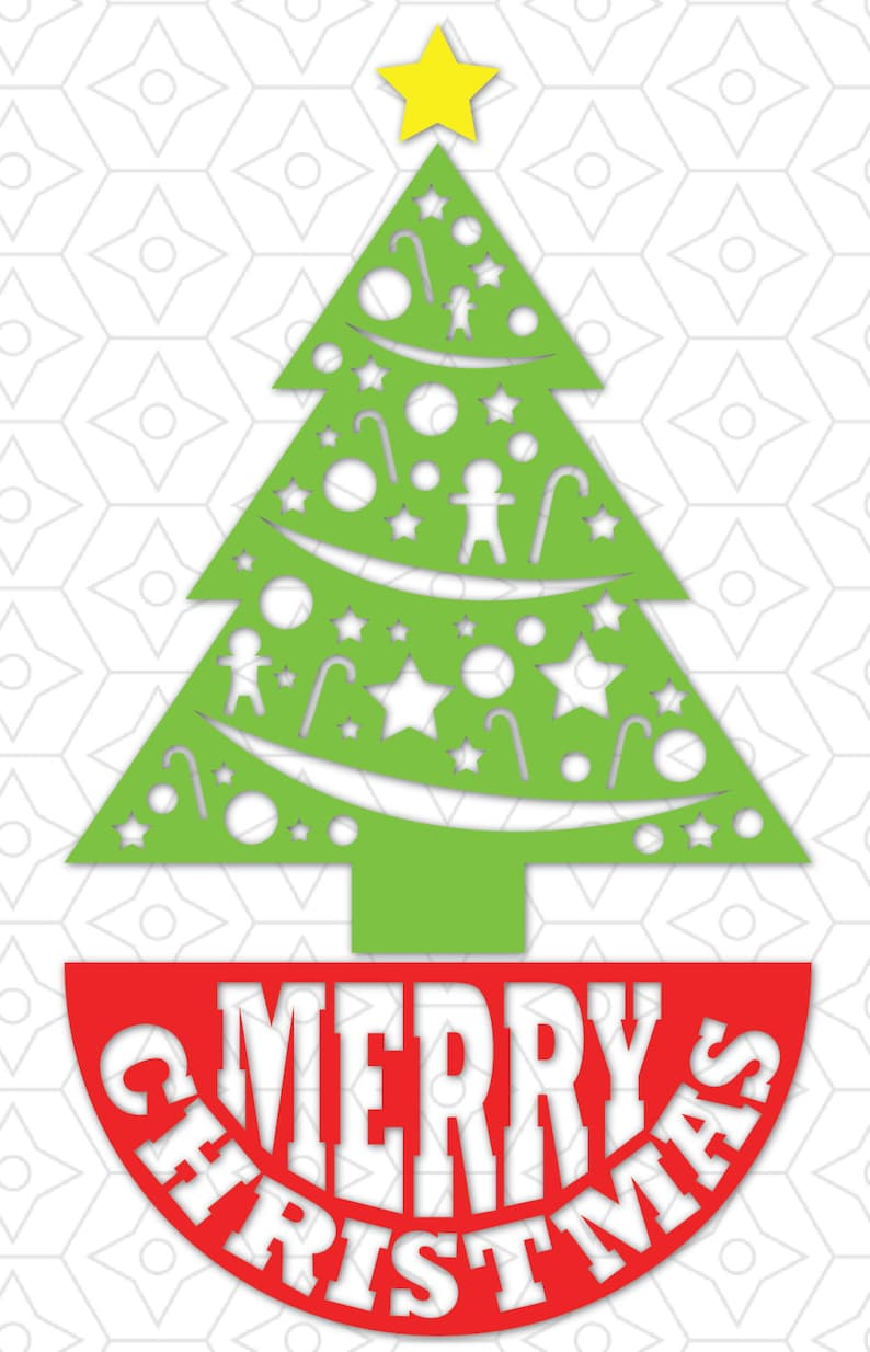 Tannenbaum Dxf.Merry Christmas Tree Skirt Decal Svg Dxf And Ai Vector Files For Use With Cricut Or Silhouette Vinyl Cutting Machines