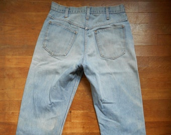28bc72ef6 vintage 70s jc penney made in usa plain pocket blue jeans 29 x 30