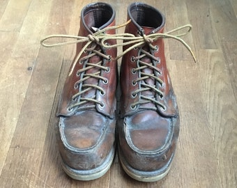 a81b9dfaede0 vintage 60s red wing moc toe irish setter sport boots made in usa mens size  7 D