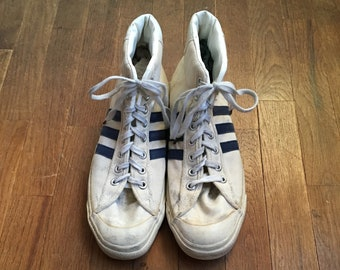 81cbb7f9e64ae5 vintage 70s converse the winner 3 stripes canvas hi top sneakers made in usa  size 11