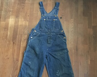 4ee537575a3b vintage 60s lee made in usa blue jean bib overalls w32