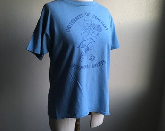 4e024bc4d vintage 80s uk university of kentucky intramural champs champion t shirt  made in usa