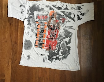 6c4dfb58ce5 vintage 90s 1991 michael jordan map world champion chicago bulls all over  print t shirt