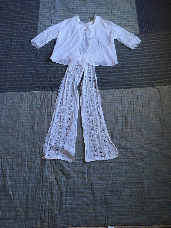 vintage Edwardian victorian antique white cotton … - image 1