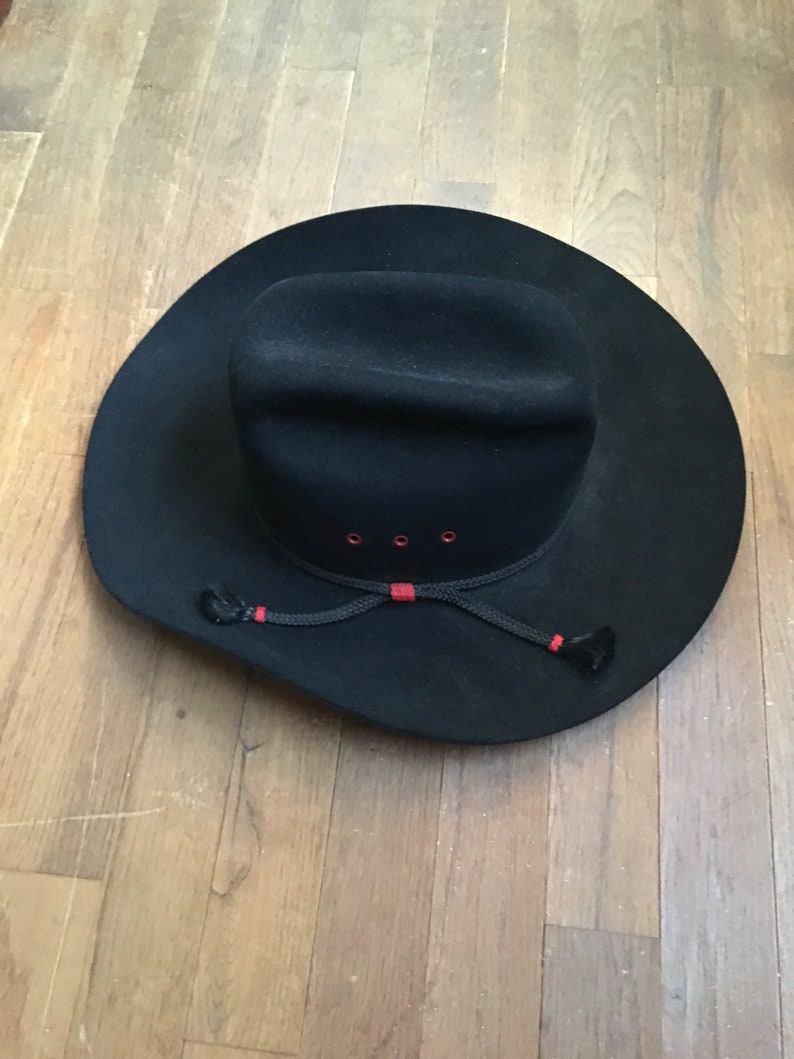 b3036900e4c Vintage stetson 4 beaver felt black hat size 7 ACTWU made