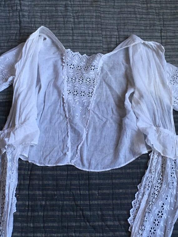 vintage Edwardian victorian antique white cotton … - image 6