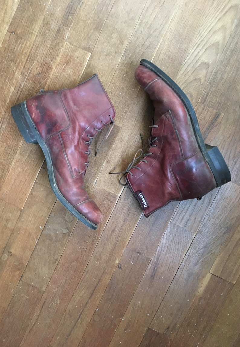 a2fd250a6ceca vintage 90s 1990 dehners jodhpur stock riding shoe brown leather lace up  ankle boot womens shoe size 8 1/2