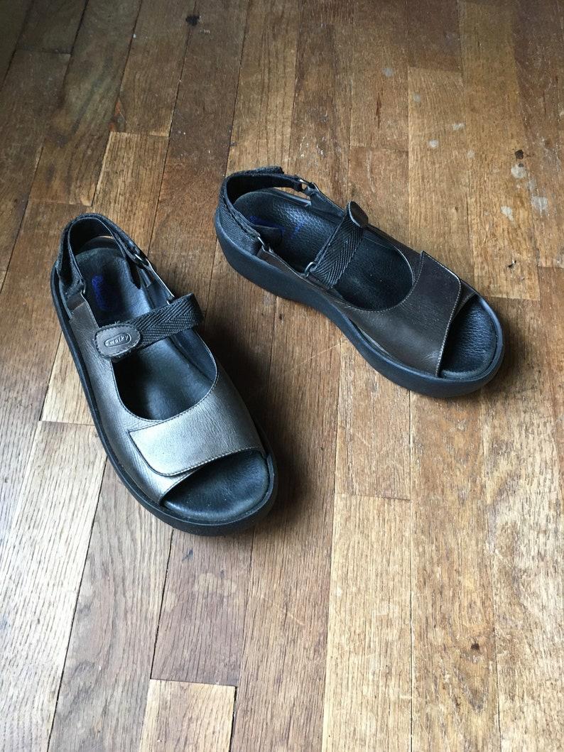 6383d32e12 Vintage 90s wolky jewel platform rubber sole comfort designed