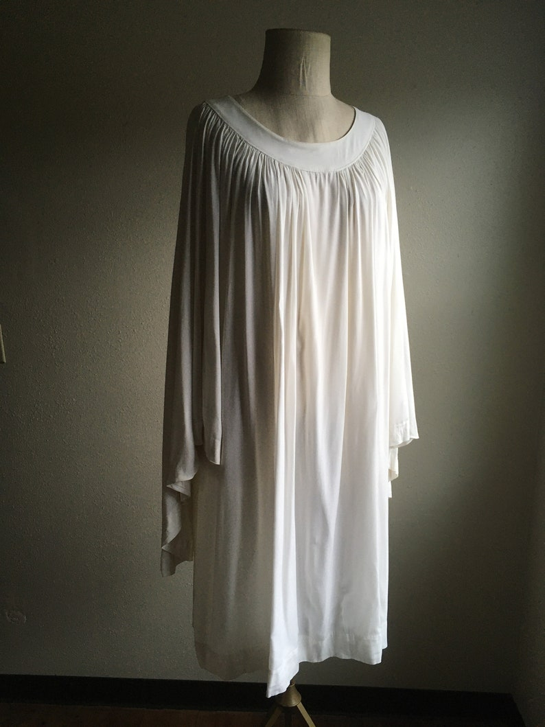 vintage 50s JT Cuthbertson Clerical Vestments white gown dress