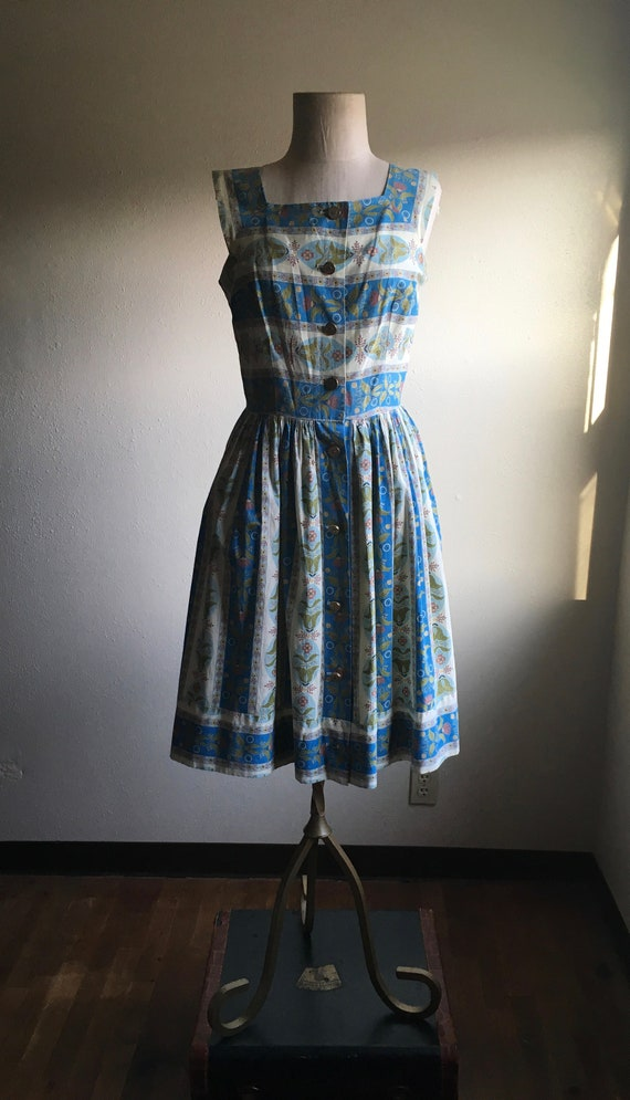 vintage 50s styled by loungees modernist floral pr
