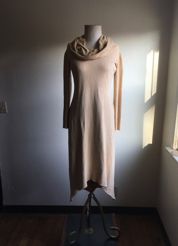 vintage 80s jersey sweatshirt dress