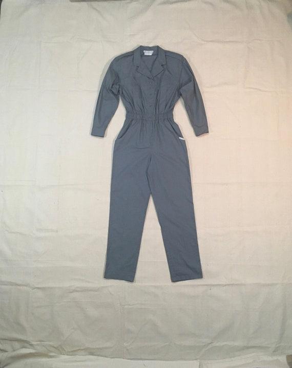 vintage 80s saint germain Paris grey cotton jumpsu