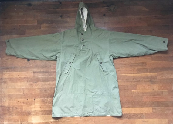 vintage 40s WWII US army green white reversible ho