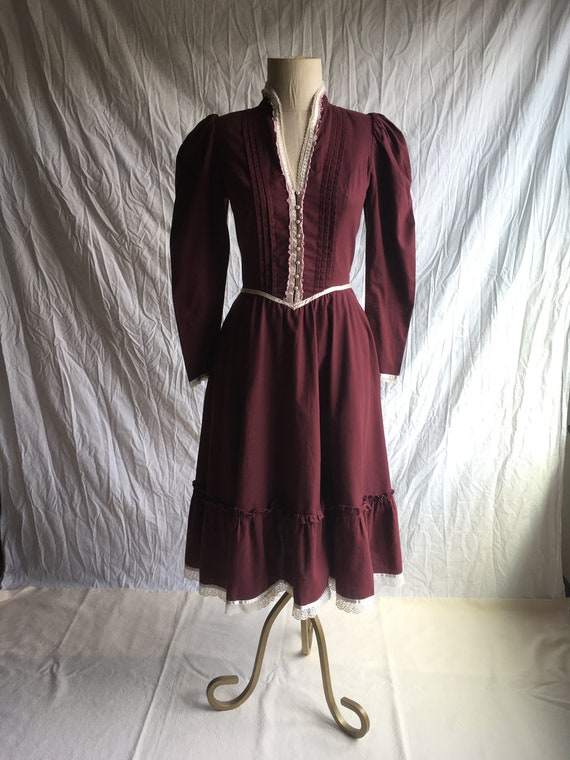 vintage 70s gunne sax by Jessica solid brown cotto