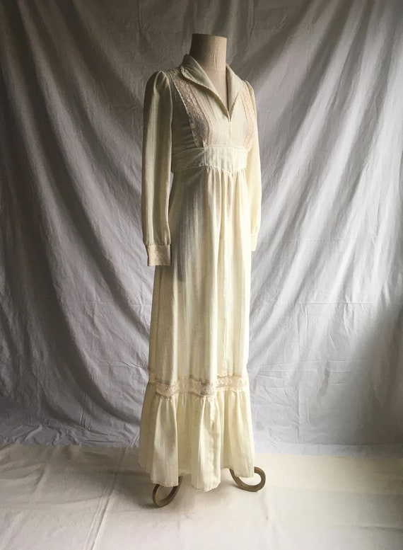 vintage 70s patty oneil natural cotton muslin tie