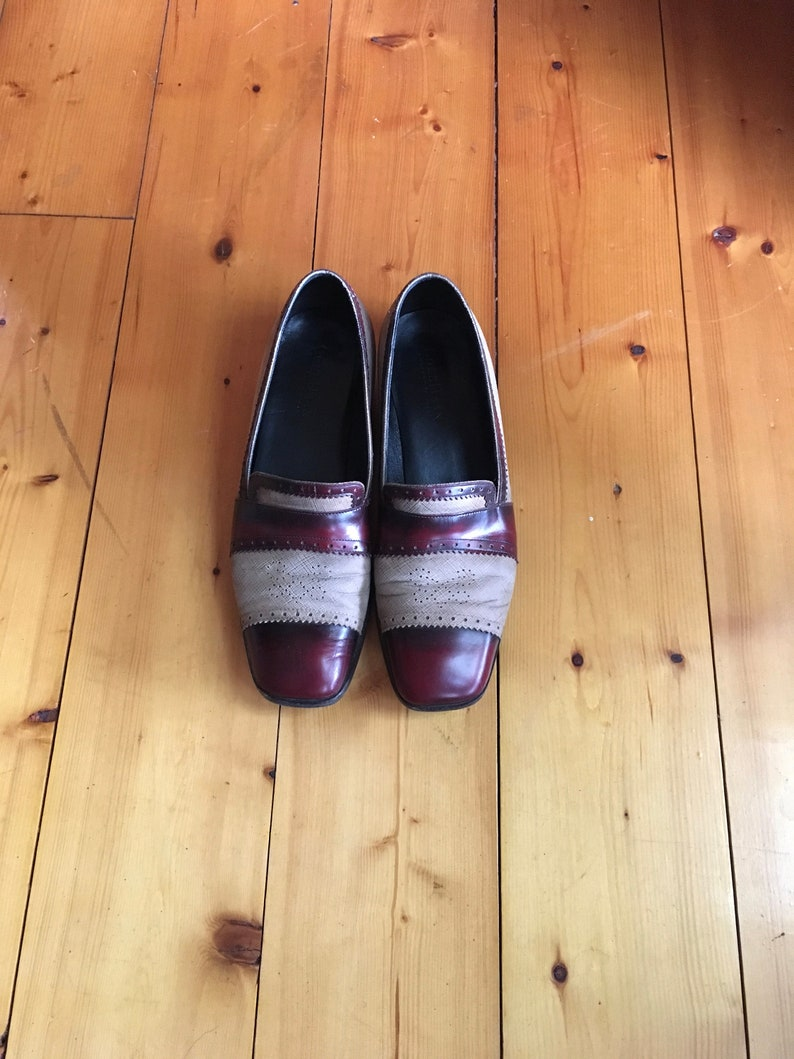 19de911ae6df2 vintage 90s cole haan two tone leather slip on loafers made in italy womens  shoe size 8 B
