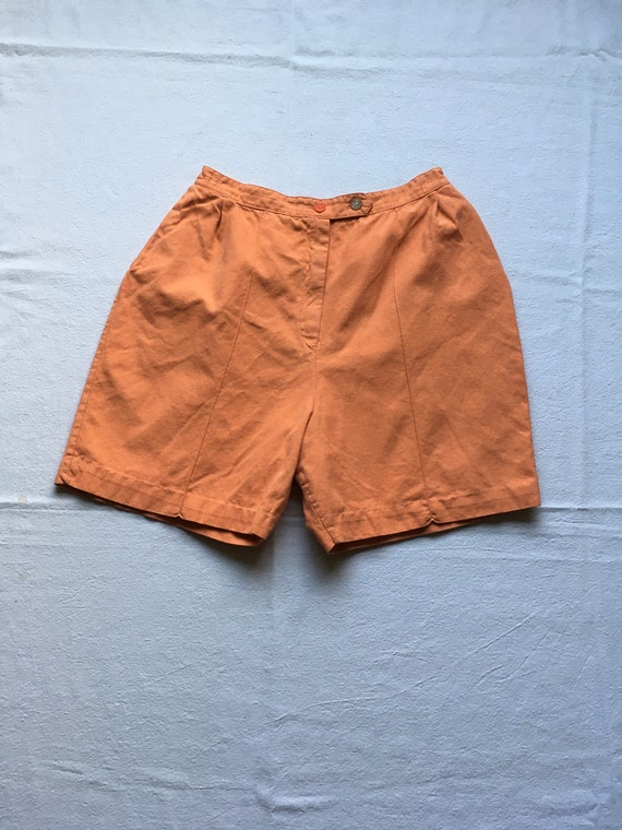 vintage 40s womens high waist orange marmalade cot