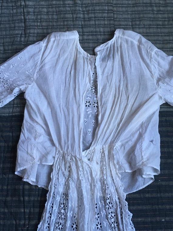vintage Edwardian victorian antique white cotton … - image 4
