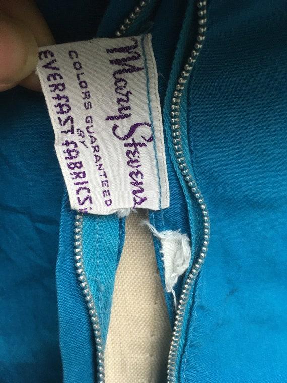 vintage 40s Mary Stevens everlasting fabrics blue… - image 9