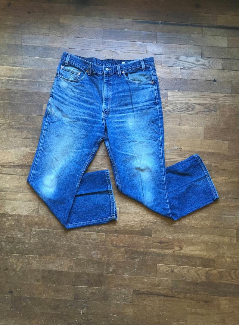 49f792cc3ed Vintage levis 517 boot cut indigo denim red tab silver tab | Etsy