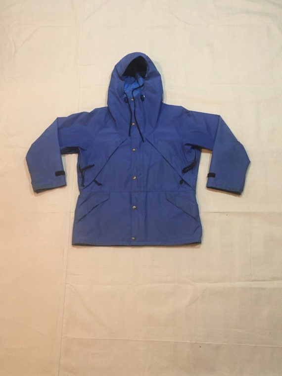 vintage 80s early winters blue gore-tex hooded par