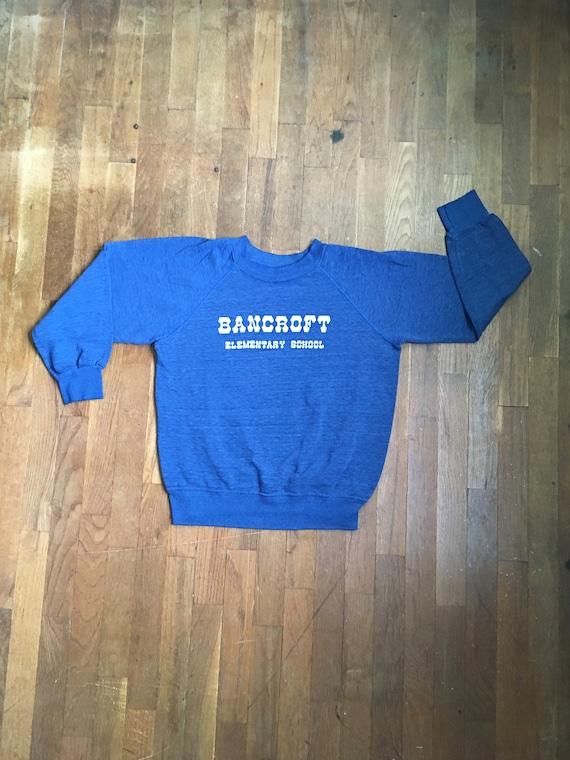vintage 70s bancroft elementary school raglan swea
