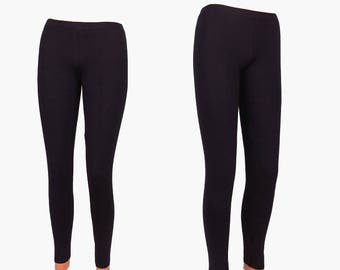 f220ecdaf478d SALE NEW Cotton Black Women's Leggings,Long Tights,Workout Yoga Pants,Stretch  Yoga Clothing in size:S,M,L Maxi Plus size-XL,2X,3X,Christmas
