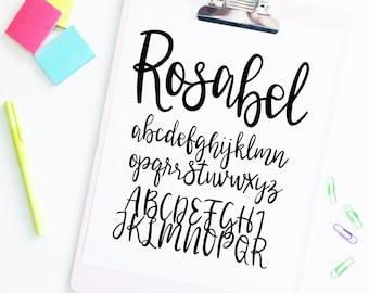 Girly Font Etsy