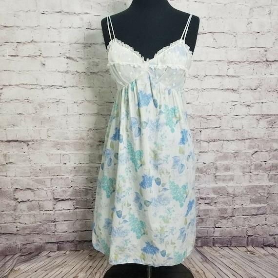 Vintage Gossard Artemis Chiffon Cotton Floral Slip