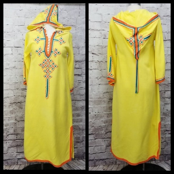 Vintage Glenn Mark Moroccan Embellished Hooded Tun