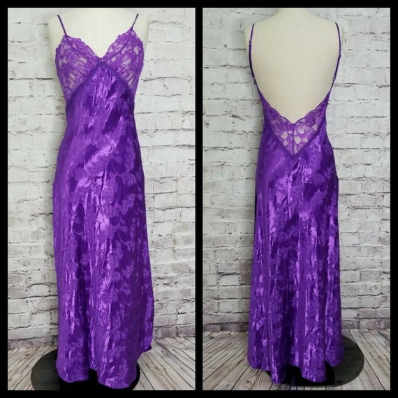 Vintage Shirley Of Hollywood Size S Sexy Purple Lo
