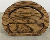 Wooden Jewellery Box Trinket Jewelry Zebrano and Ash Wood
