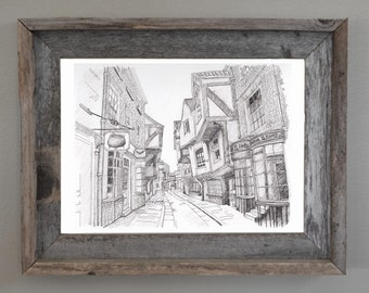 Harry Potter, Harry Potter Wall Art: Diagon Alley Print